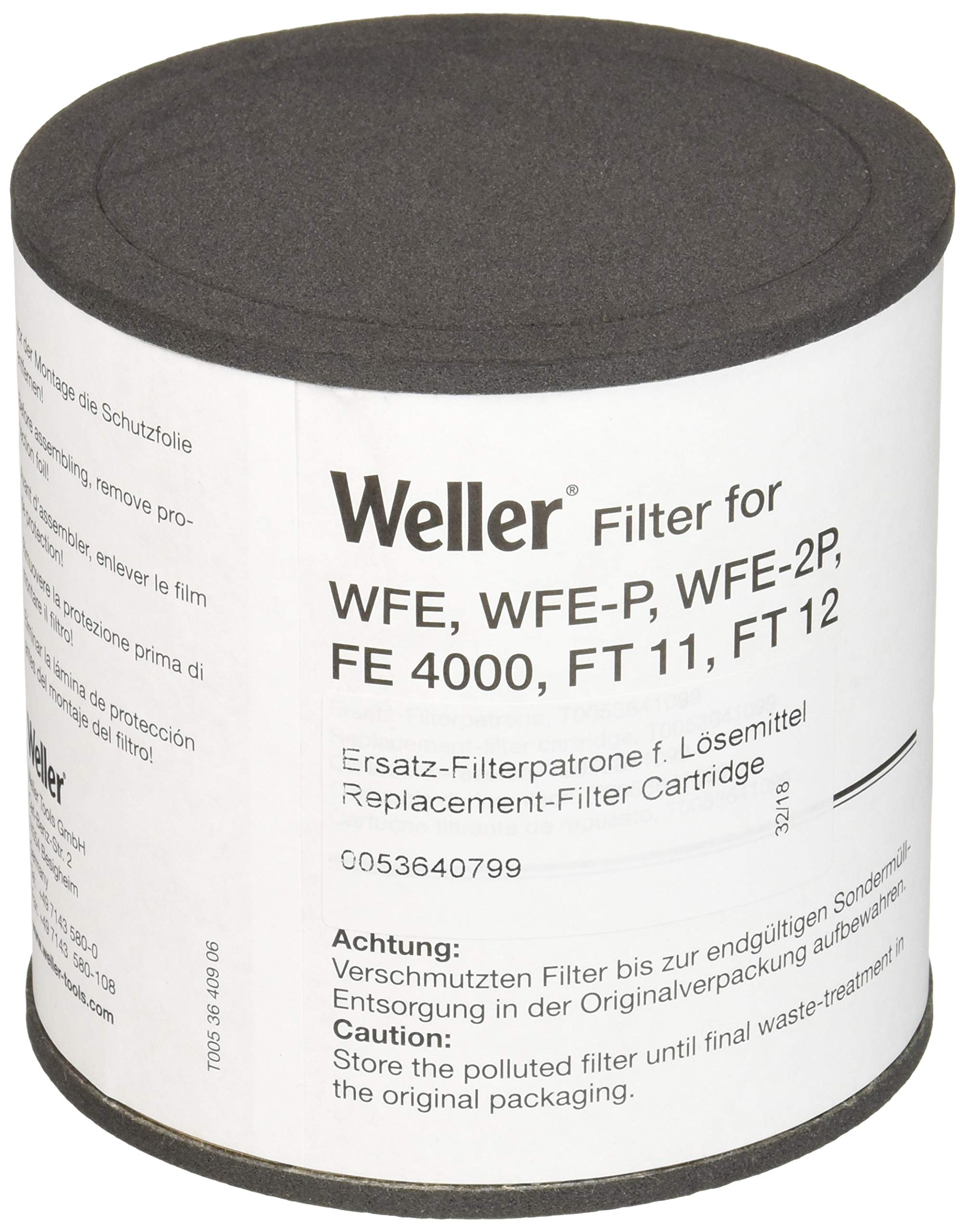 Weller T0053640799 Comp.Filter Aktivk. Wfe/Wfep/Ft11/Fe4000, Black