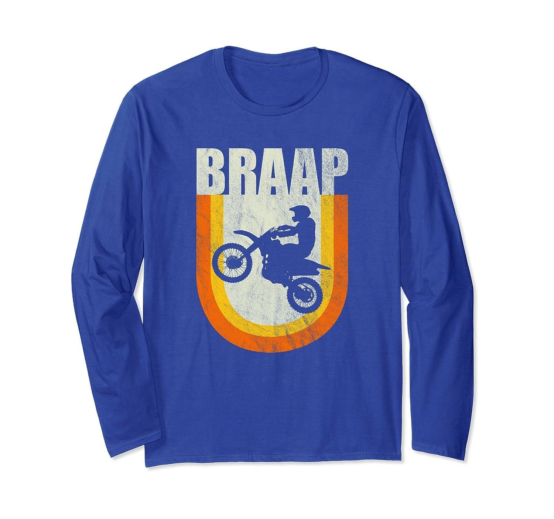 Braap Long Sleeve T-Shirt Classic 70s Vintage Motocross-alottee gift