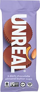 product image for UNREAL Dark Chocolate Almond Butter Cups, 1.1 OZ