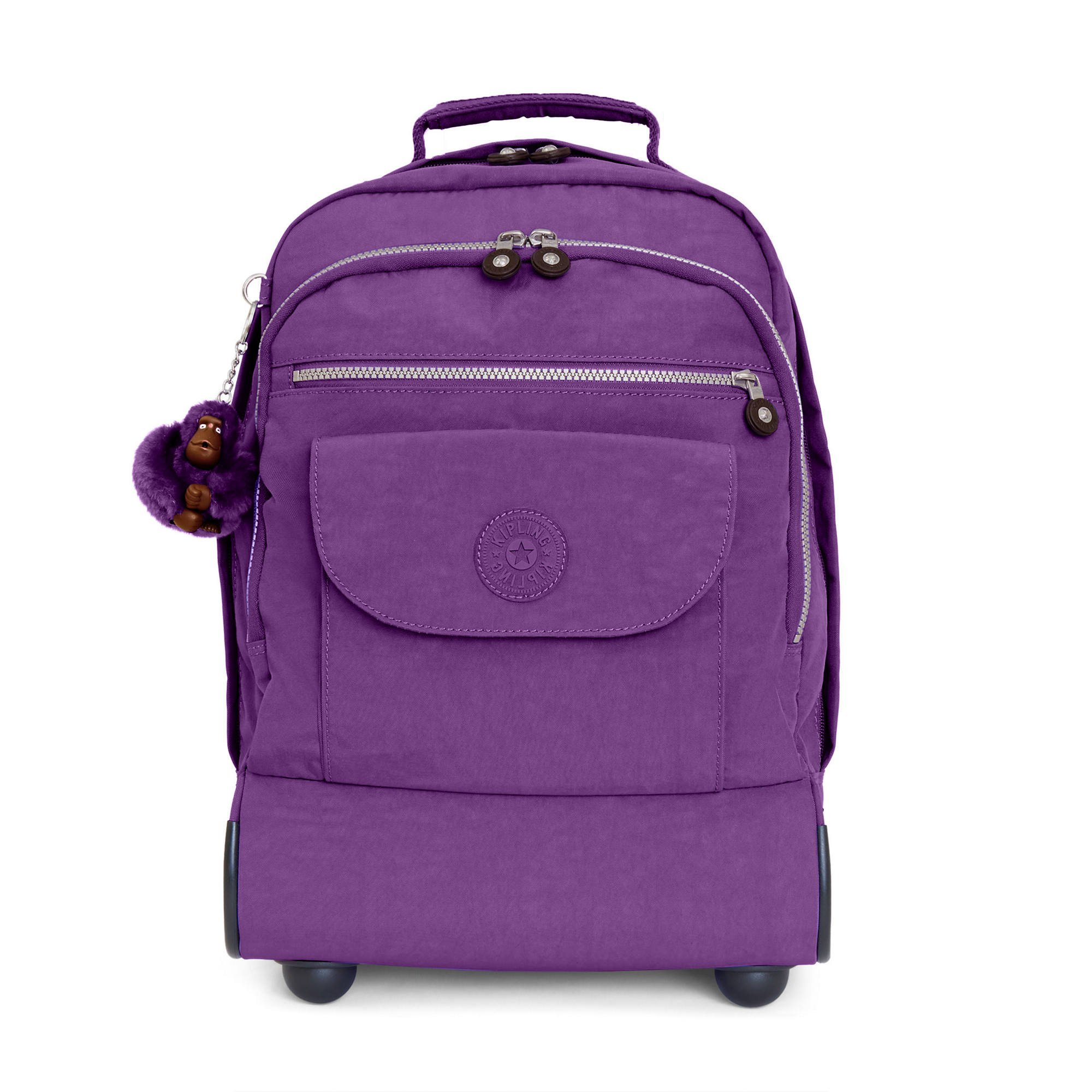 Kipling Women's Sanaa Large Rolling Backpack One Size Purple Feather