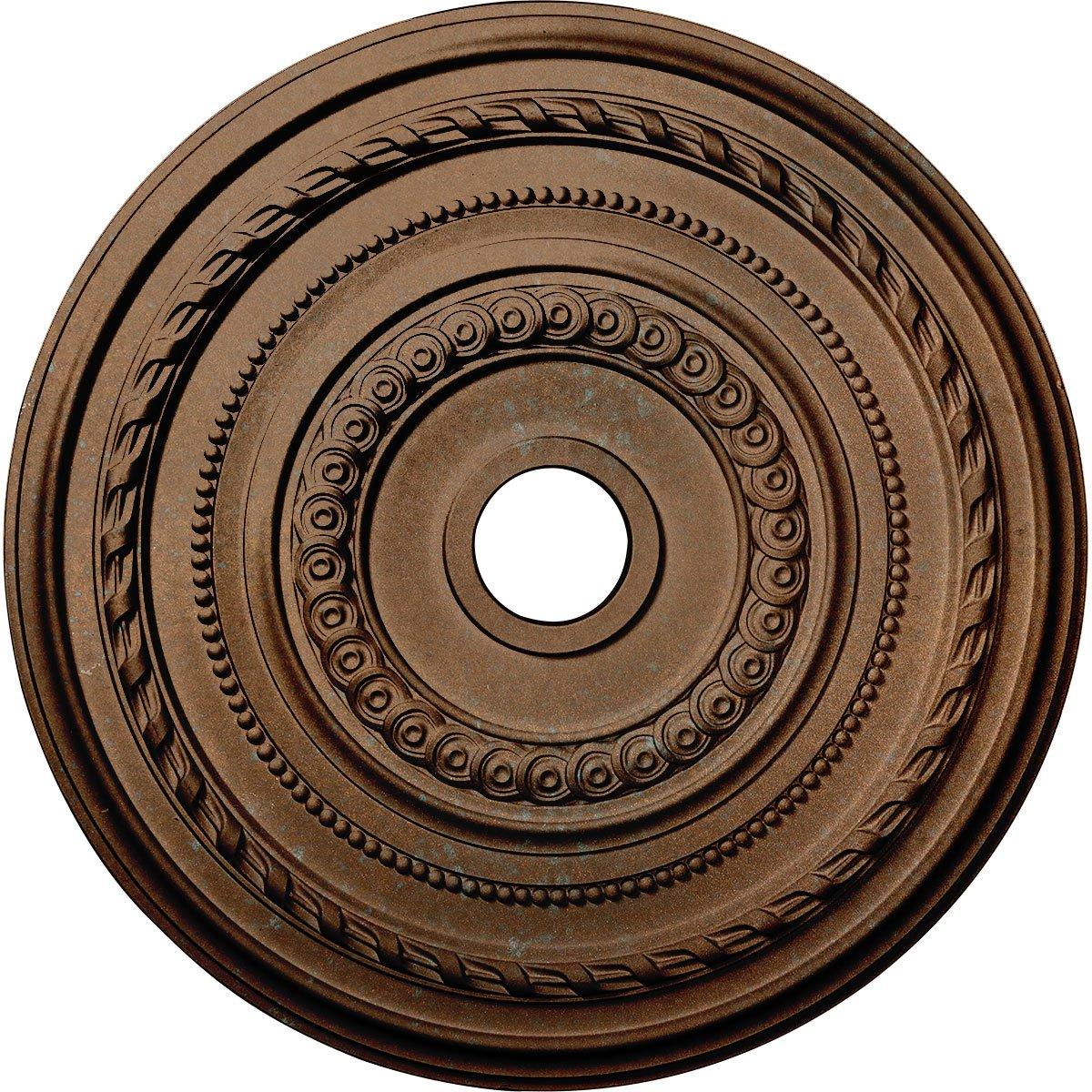 Ekena Millwork CM25COCGS Cole Ceiling Medallion, Copper Green Patina