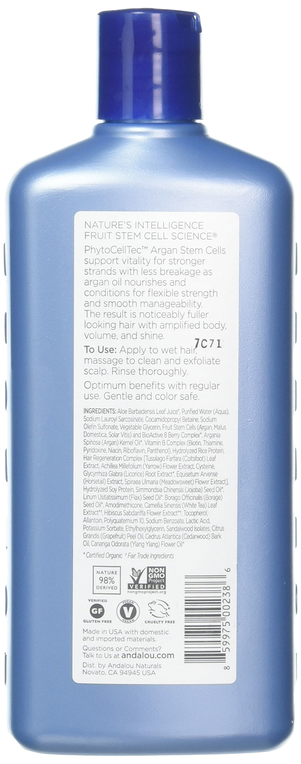 Andalou Naturals Argan Stem Cell Age Defying Shampoo, 11.5 Ounce by Andalou Naturals (Image #2)