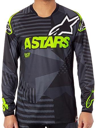Alpinestars Black-Fluorescent 2018 Racer Tactical MX Jersey  Amazon ... e4970e5ba