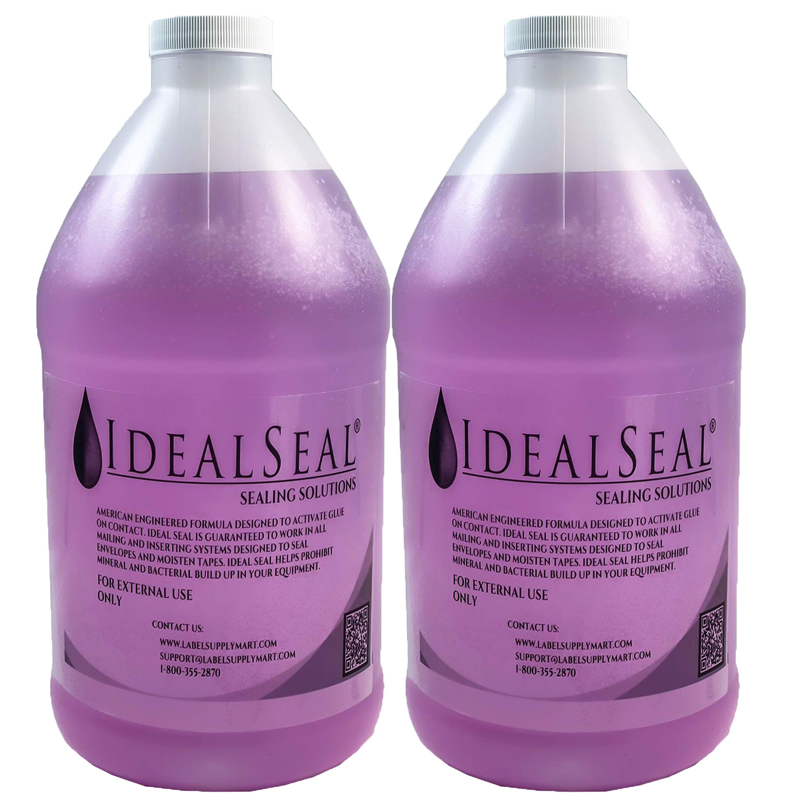 Pitney Bowes 608-0 E-Z Seal Sealing Solution Genuine Compatible IDEALSEAL Half Gallon (64 oz) of Sealing Solution DM Series Mailing Systems (2-Half-Gallons) by IDEALSEAL