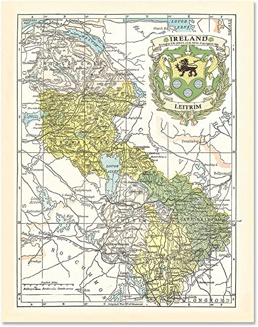 10 Sizes WESTMEATH COUNTY IRELAND IRISH MAP VINTAGE ANTIQUE HISTORICAL ART PRINT POSTER Home Decor Wall Picture A4 A3 A2