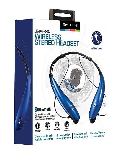 e18ce898ea4 Bytech Wireless Bluetooth Earbud Neckband Headphones (Blue): Amazon.ca:  Cell Phones & Accessories