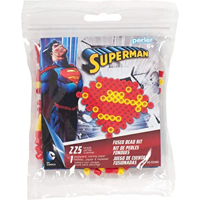 Perler Beads Superman Logo Fuse Bead Activity Kit for Kids Crafts, 227 pcs: Toys & Games