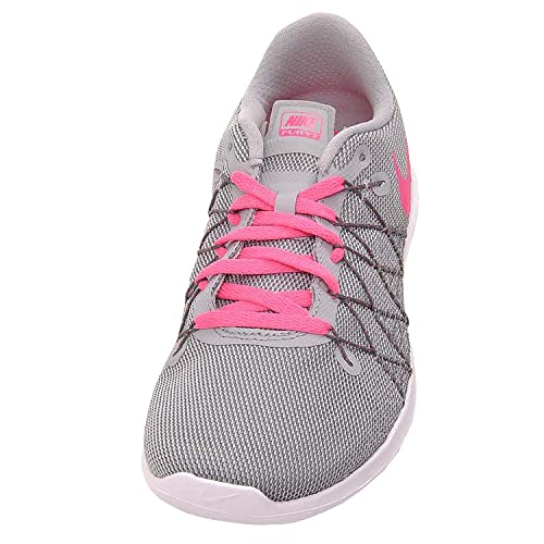 uk availability 7efe7 c41fd Nike Girls Flex Fury 2 Running Shoes Wolf Grey Dark Grey White Hyper Pink  7Y  Amazon.co.uk  Clothing