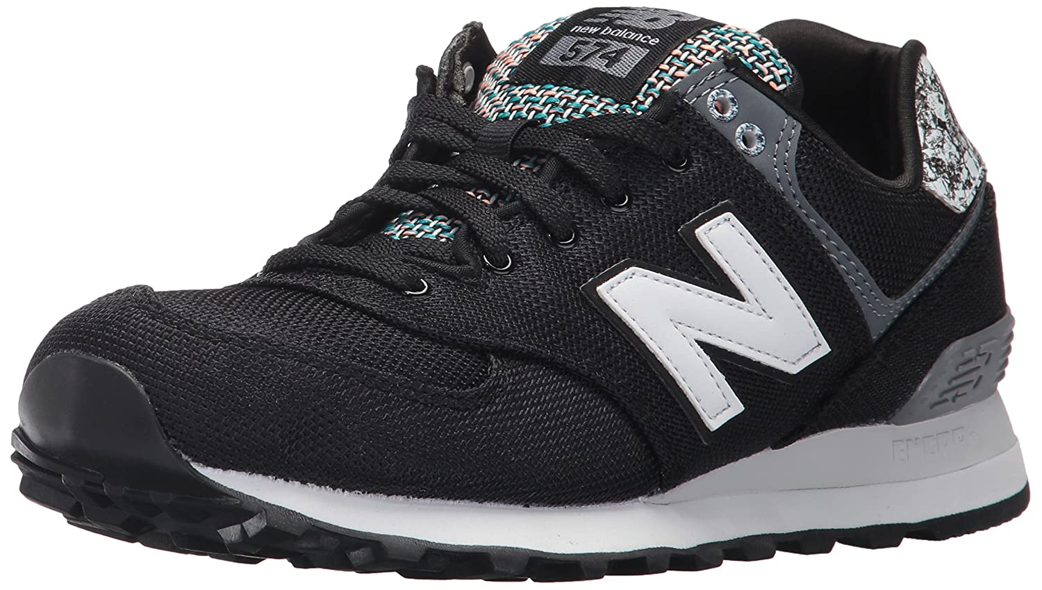 New Balance Women's 574v1 Art School Sneaker B01N66HNMD 7 B(M) US|Black/Silver/Mink