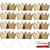 Mini Crowns 12 - Gold with Elastic Strap