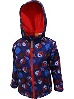 Yellow,Red Paw Patrol Official Boys Zipped Jacket Coat with Polar Fleece Lining Marshall Rubble Characters Navy