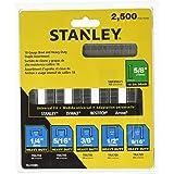 STANLEY Brad Nails, Heavy-Duty Staple and Brad Assortment, 2500-Pack, 18/24 GA (TRA700BN)