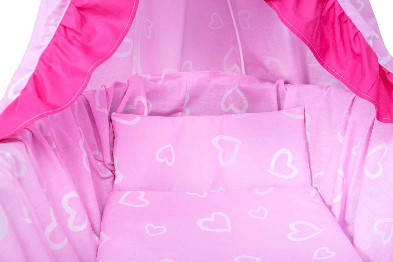 Amilian® 9tlg textile ausstattung für stubenwagen bollerwagen himmel