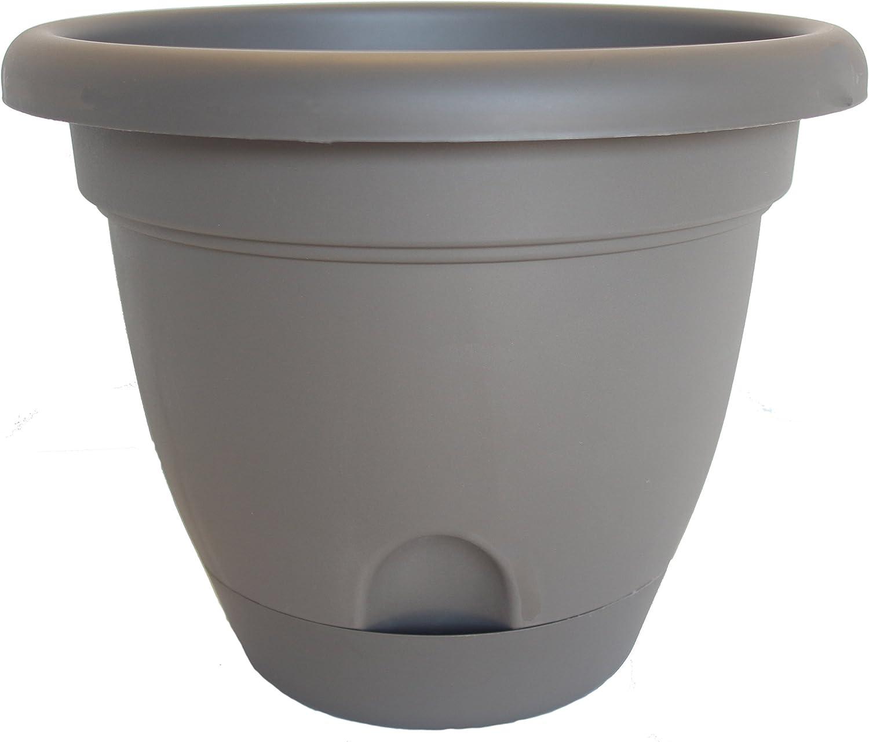 Bloem 818573011152 Living LP1660 Lucca Self-Watering Planter, 16-Inch, Peppercorn