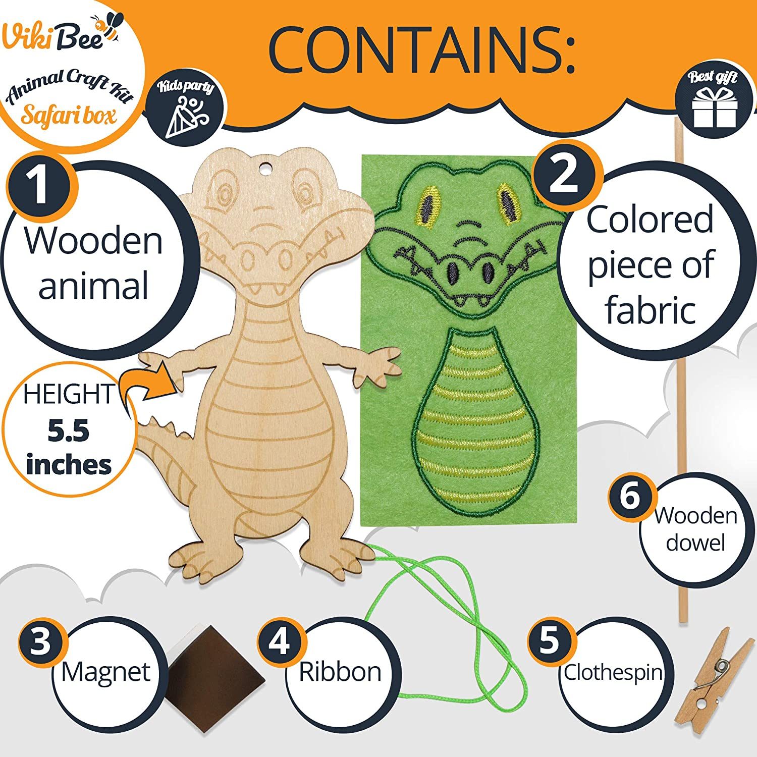 Decorate Your Own Animals Painting Craft Wooden Craft to Paint Zoo Animals Cutout Educational Toy Unique Gift VikiBee Safari Animals Wooden Crafts Monkey Monkey Learning Toy Kids Craft