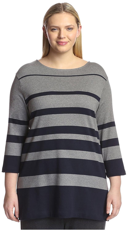 1bd3165b2f5 Joan Vass Plus Women s Fade Stripe Tunic