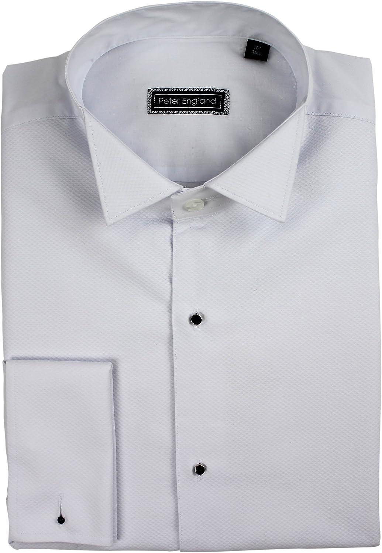 Peter England Marcella - Camisa de Vestir de algodón con Cuello de ala Frontal: Amazon.es: Ropa y accesorios