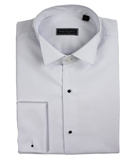d20af3936c8 Peter England Marcella Front Wing Collar Cotton Dress Shirt  Amazon.co.uk   Clothing