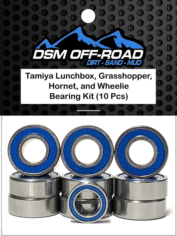 DSM Off-Road Rubber Sealed Bearing Kit for Tamiya Lunchbox 10 Bearings Grasshopper and Wheelie Hornet