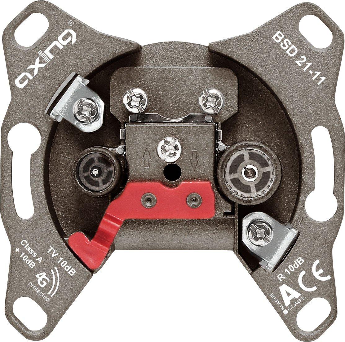 Axing BSD 21-01 Hyperbreitbandsteckdose Einzel und Stichleitungsdose mit DC-Durchlass