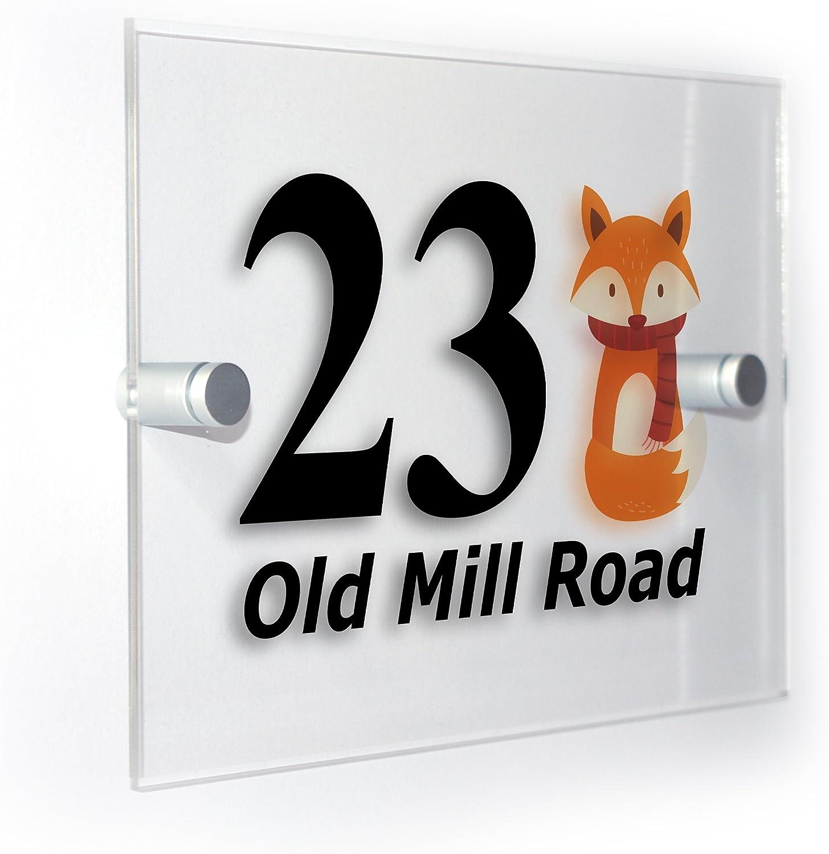 /'Fox/' Large Wooden Wall Plaque DP00015666 Door Sign