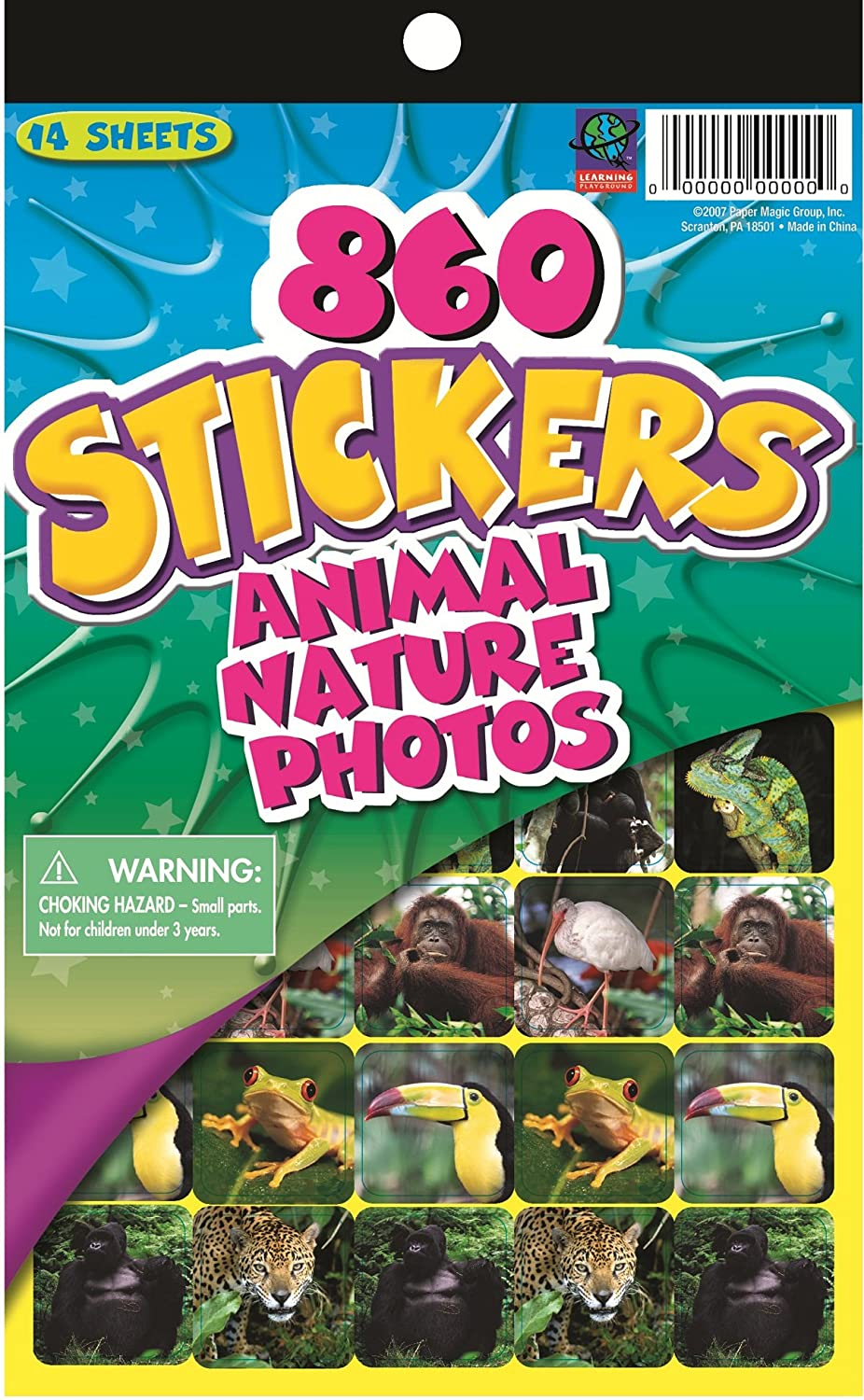 Eureka Educational Wild Animal Stickers for Kids, 860 pcs
