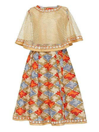 Adiva Girls Party Wear Poncho Dress For Kids Amazonin Clothing