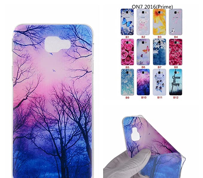 Amazon.com: Hotom Store Cartoon Flower Tree Painted Back Cover Silicon Gel Soft Tpu Mobile Phone Case For Galaxy J7 Prime Coque On7 New G6100 13: Cell ...
