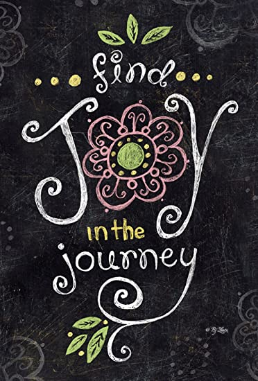 Amazon Com Toland Home Garden Joy In The Journey Chalkboard 12 5 X