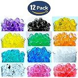 12 Pack Combo Sooper Beads Decoration Vase Filler - Water Beads Gel - 12 Colors - 5 grams per pack make over a quart per pack - Wedding Decoration Vase Filler - Furniture Decorative Vase Filler - ALMOST 3 GALLONS of BEADS TOTAL