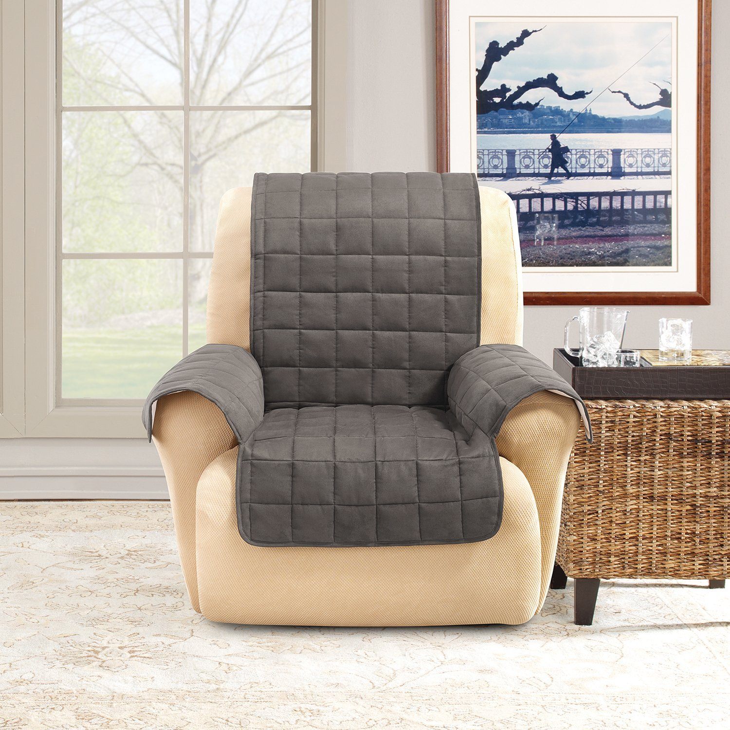 Amazon Sure Fit Ultimate Waterproof Quilted Throw Recliner