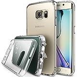 Galaxy S6 Edge Custodia - Ringke FUSION ***Tutto Nuovo Polvere Copertura Cap & Cadere Protezione*** [CRYSTAL VIEW] Primium Cristallo Chiaro Posteriore Shock Assorbimento di Difficile Paraurti con Gratis Retro Paraschiena Schermo per Samsung Galaxy S6 Edge- Eco/DIY Pacchetto