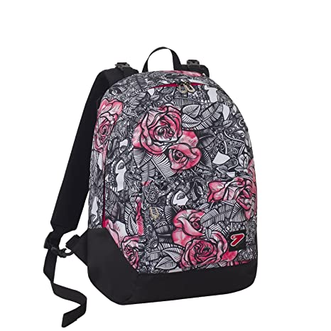 5fea1a4de5 ZAINO SCUOLA SEVEN DOUBLE BACKPACK REVERSIBILE 2 ZAINI IN 1 ROUGE GIRL CON  CUFFIE