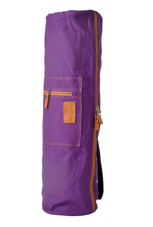 Bolsa de yoga »Sunita«, talla L de #DoYourYoga / Fabricada con lienzo (lona) de gran calidad, con un laborioso acabado / Para esterillas de yoga y de ...