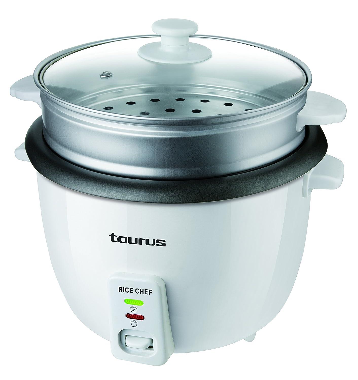 Taurus Rice Chef Compact - Bollitore per riso 0, 6 L nero e grigio
