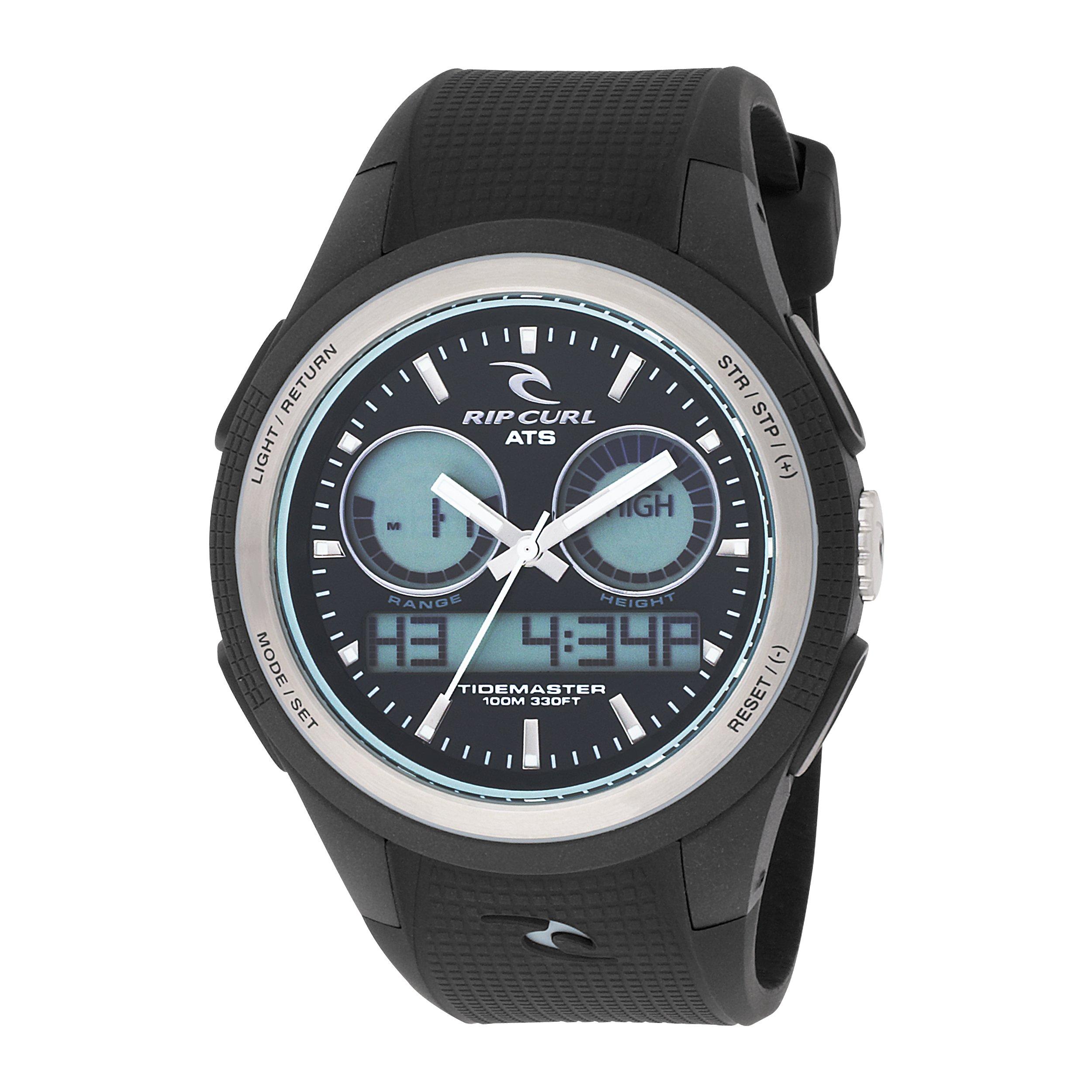Rip Curl Men's A1048-BLW Ventura Tidemaster 2 Black and White PU Rubber Tide Watch