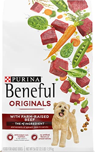 Purina Beneful Dry Dog Food, Originals With Real Beef – 4 3.5 lb. Bags
