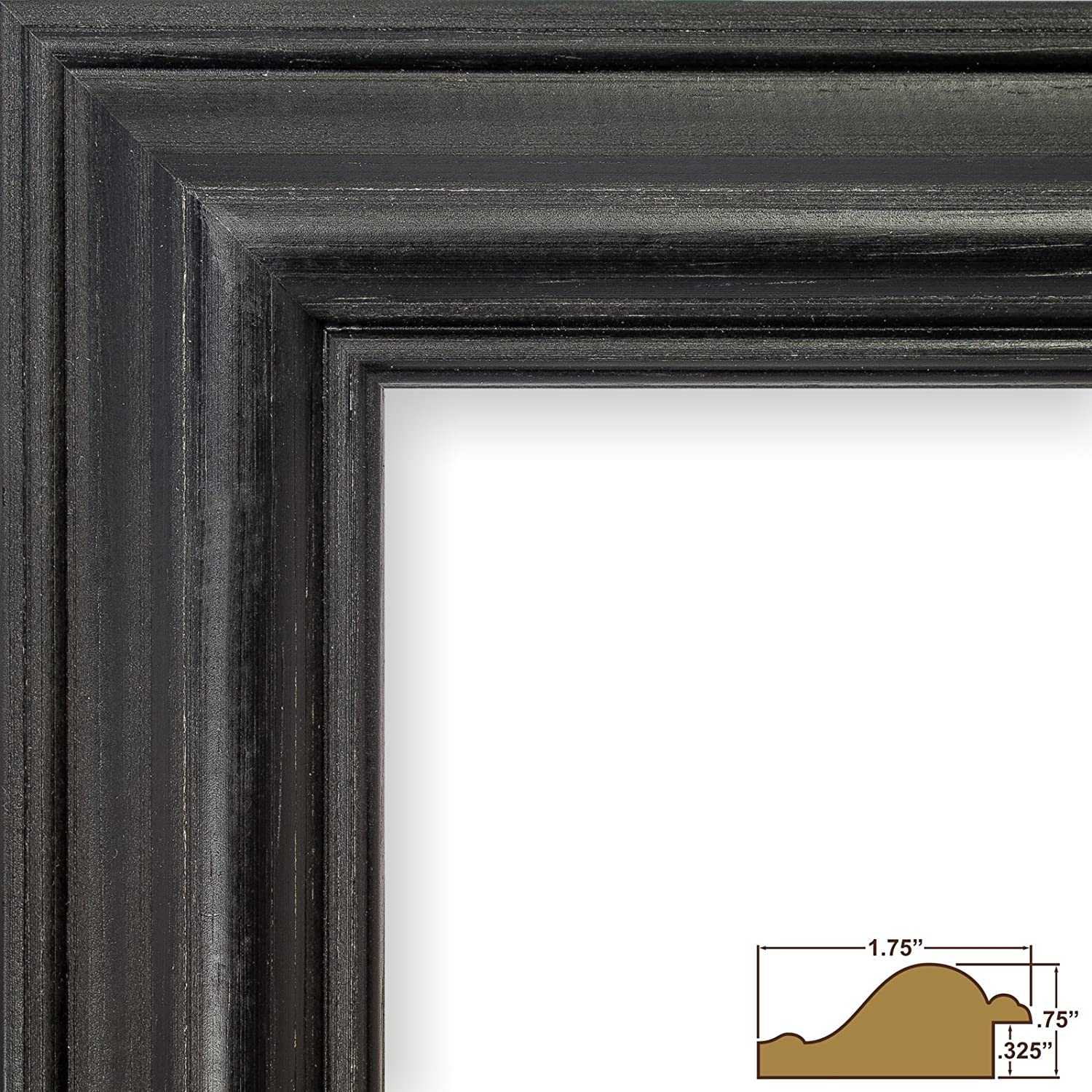 Craig Frames 77332905 Empty Picture Frame 13 by 19-Inch American Classic Frame Shell 1.75-Inch Wide Black Pine Wood