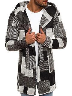 GreatestPAK Herren Sweatshirt Lässige Strickjacke mit Langen