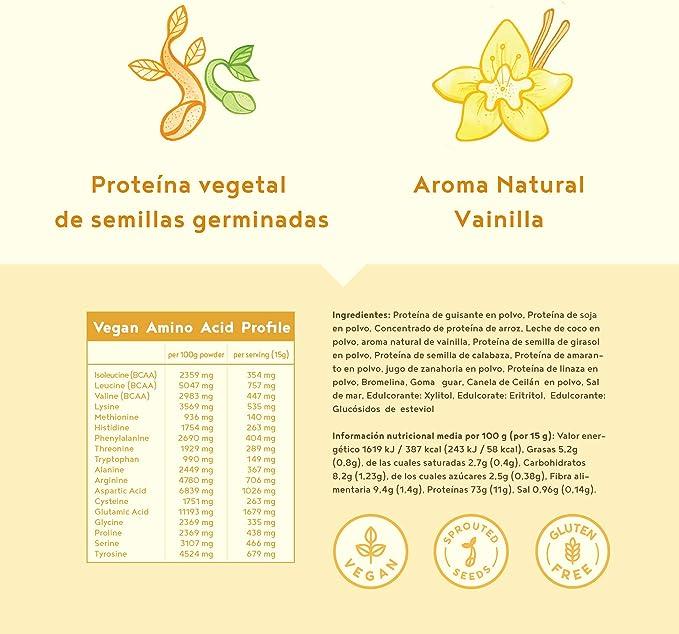 Proteína vegana   VAINILLA   Proteína vegetal de arroz ...