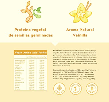 Proteína vegana | VAINILLA | Proteína vegetal de arroz ...