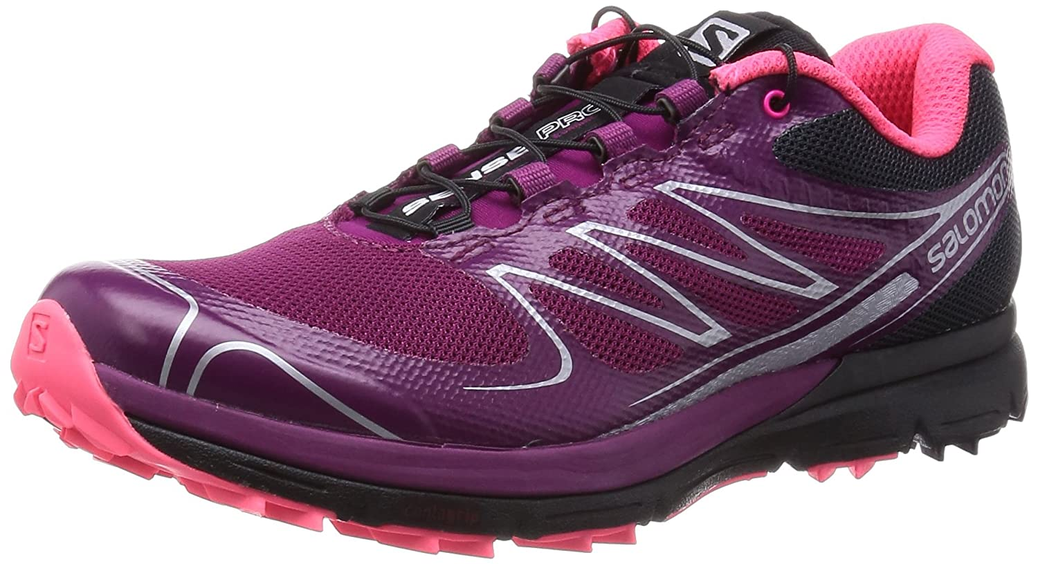 Salomon Women's Sense Pro Trail Running Shoes B00D3P9OFQ 9 B(M) US|Mystic Purple / Black / Pink