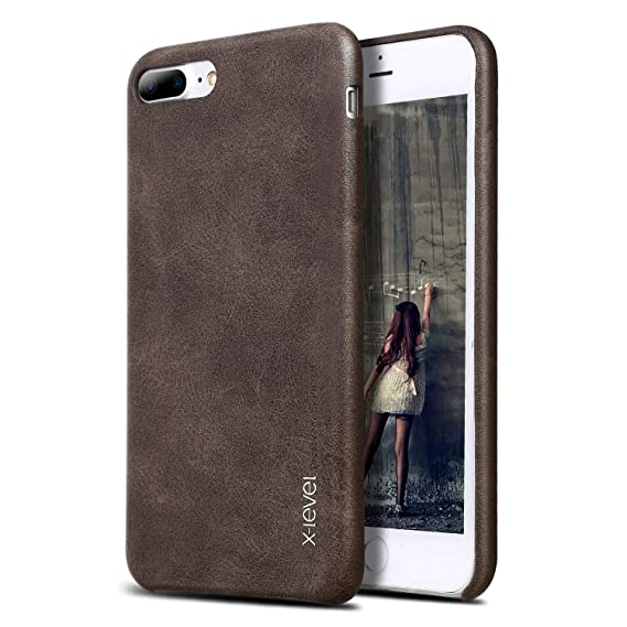 the latest a94d9 72b56 iPhone 7 Plus Case, iPhone 8 Plus Case, X-Level Premium PU Leather Case  [Vintage Series] Slim Fit Lightweight Soft Back Protective Cover for iPhone  7 ...