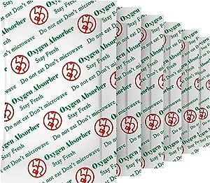 ATSAMFR 500cc(50Packets) Food Grade Oxygen Absorbers Packets for Long Term Food Storage,Oxygen Absorbers for Home Made Jerky