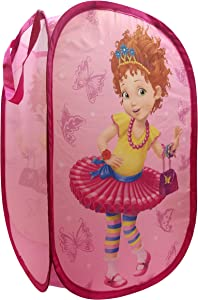 "Disney Fancy Nancy Butterfly Pop Up Hamper - Mesh Laundry Basket/Bag with Durable Handles, 22"" x 14"" (Official Disney Product)"