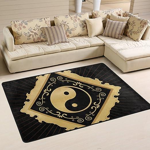 Amazon De Coosun Yin Yang Teppich Rutschfest Fur Wohnzimmer