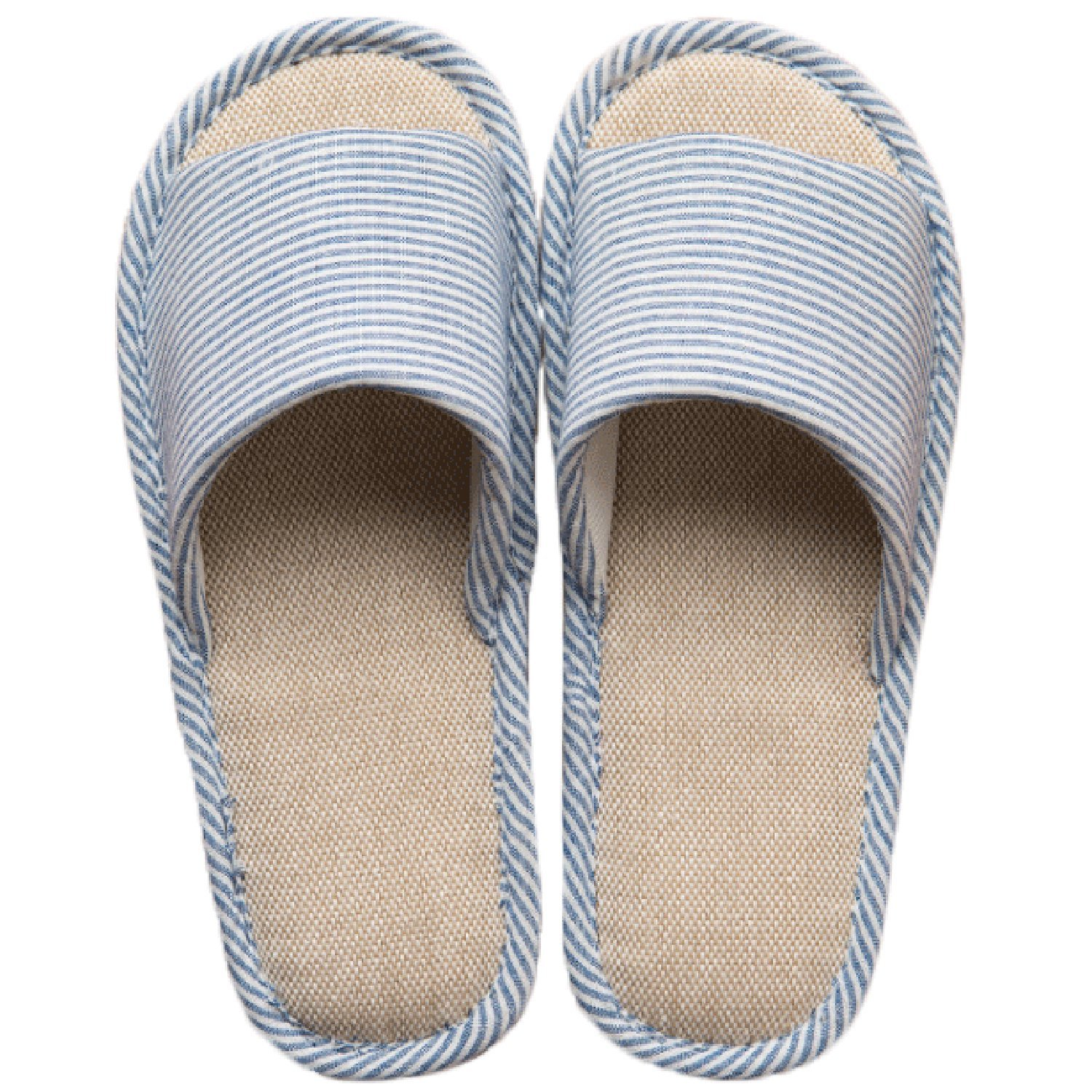 LYMMC House Slippers,Women's and Men's Cotton Causal Soft Slippers Anti-Slip for Indoor and Outdoor (Blue)