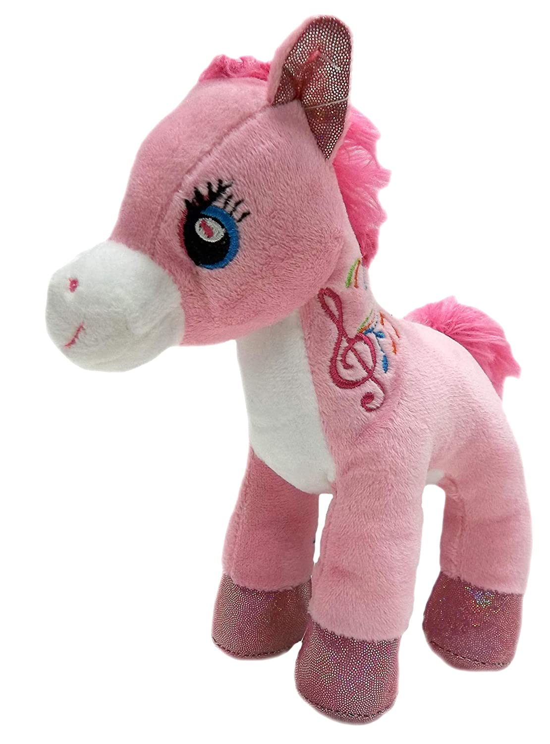 Amazon Com Pink Pony Stuffed Animal Plush Toy 8 Cute Pony