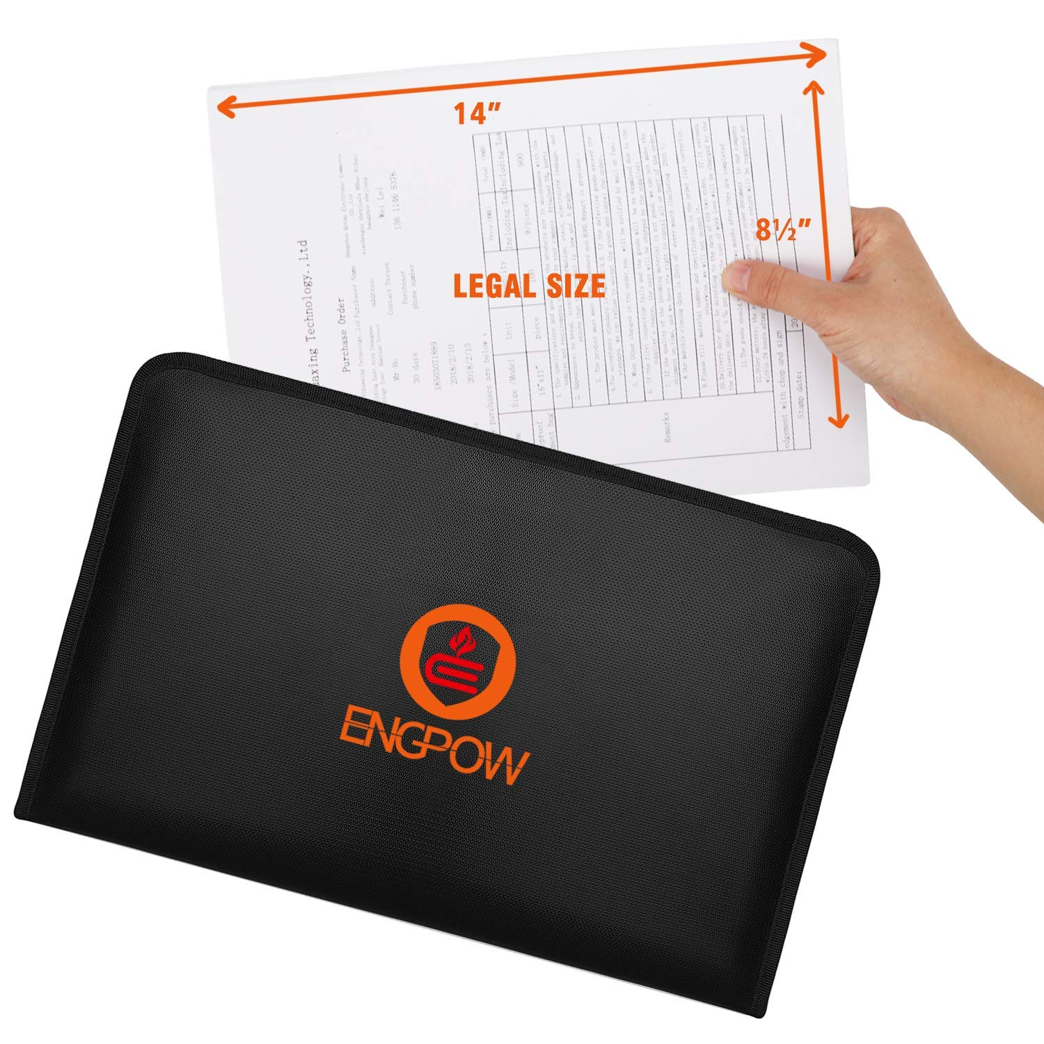 Legal Size Expanding File Folder Important Document Organizer Fireproof Document Bag with 13 Pockets,Color Labels,Non-Itchy Silicone Coated Portable File Wallet Large Capacity 16 x 10.6