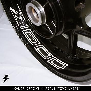 Kawasaki z1000 2014 motorcycle inner rim sticker stripe go